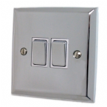 Spectrum Polished Chrome Rocker Light Switches